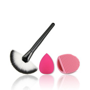 1 X Demarkt Makeup Brushes Comestic Brush With Beauty Blender Sponge and Brush Cleaner Beauty Tools Kits
