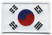 Korea Flag - Patch White Border (IRON-ON), Size 8.9cm x 5.7cm - us flag, american flag patch, south korea flag patch uniform school logo jacket - Sold by Uniform World