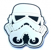 3D PVC STORMTROOPER HELMET STAR WARS 1ST ORDER hook and loop FASTENER PATCH