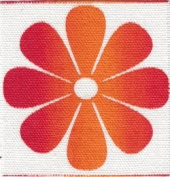 Rainbow Flower - Embroidered Sew On Patch