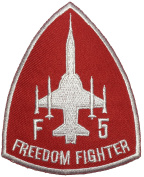 F-5 Freedom Fighter Tiger II Embroidered Applique Sewing Iron on Patch - Red