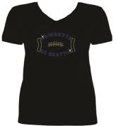 Rhinestone Seattle Football HawketteT Shirt SV NUM