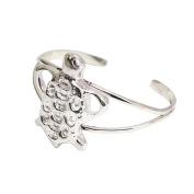 Michele Benjamin Women's Sterling Silver Tortoise Classic Cuff Bracelet