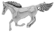 Jewellery Trends Sterling Silver Running Mustang Horse Brooch Pin