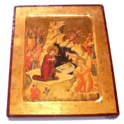 Nativity of our Lord Icon with sheets of Gold (Lithography)