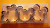LAWMAN Mickey Minnie Mouse Fondant Baking Metal Cookie Cutter 3 pcs Set