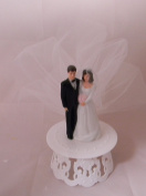 Wedding Party Reception Romantic Groom and Bride Cake Topper