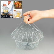Creative Chef Frying Basket Strainer Foldable Washable Kitchen Tool