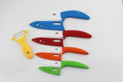 Wolfgang Cutlery 9PC. Curved Professional Series Ceramic knife Sets Multicolor