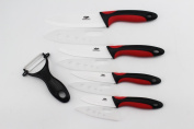 Wolfgang Cutlery 9PC. Professional Series Ceramic knife Sets Red/Black