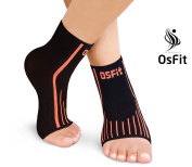 Premium Foot Care Compression Sleeve Pair By Osfit-Best Ankle Brace For Arch & Ankle Support–Top Football, Basketball, Volleyball, Running Ankle Support Braces For Pain Relief & Enhanced Circulation