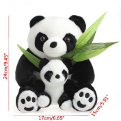 Kocome Sitting Mother and Baby Panda Plush Toys Stuffed Dolls Soft Children Kids Toy Cute