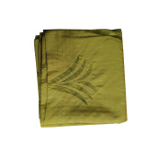 Embroidered Bed Scarf Green 200cm x 46cm