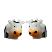 Cute Mini Miniature Cow Crafts Ornament Fairy Garden Animal Home Decorations
