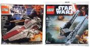 Lego Star Wars Republic Attack Ship & Kylo Ren's Command Shuttle Starship set - Polybag 30279 + 30053 edition Building Set