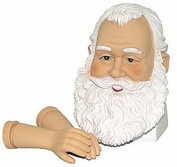 Vinyl Santa Head and Arm Set with Beautiful Detailed Features for Doll Making and Holiday Crafting