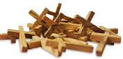 Novel Merk 20-Piece Wooden Cross Set Made in the Holy Land for Vacation Bible School Arts and Crafts or Church Carnival Fundraising Religious Jewellery Gifts