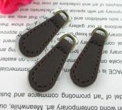 WellieSTR Zip Tags PU Leather Pulls Zipper Zip Fixer , Coffee (Pack of 10) Zipper Repair Pull