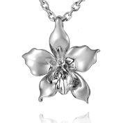 Sterling Silver Orchid Pendant