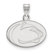 925 Sterling Silver Rhodium-plated Laser-cut Penn State University Small Pendant