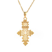 Africa Gold Necklace Ethiopian African Gold Cross Pendant Jewellery