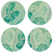 """CoasterStone NC05 """"Teal Agate"""" Absorbent Coasters (Set of 4), 10cm - 0.6cm , Multicolor"""