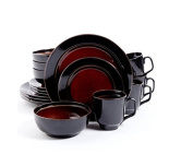 Gibson Studio Villa Mosa 16-Piece Dinnerware Set, Round with Unified and Pleasing Look