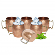 Handmade Pure Copper Hammered Moscow Mule Mug,Set of 6 Mugs by DakshCraft