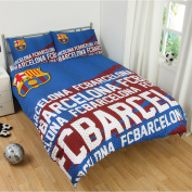 FC Barcelona Impact Double Duvet Cover and Pillowcase Set