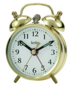 Acctim Selworth Classic Wind Up Twin Bell Bedside Alarm Clock Gold