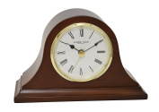 London Clock - Mahogany Finish Napoleon Mantel Clock by London Clock Company