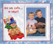 Are We Cute or What! Christmas Frame Gift