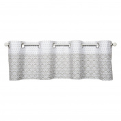 Trend Lab Art Deco Window Valance, Grey/White