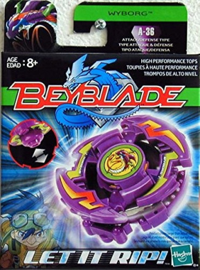 Hasbro 82587 - Beyblade - WYBORG - Attack/Defence Type A-36 - incl. Launcher & Ripcord