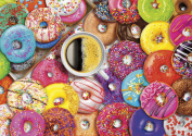 Buffalo Games Coffee and Donuts by Aimee Stewart Jigsaw Puzzle from the Vivid Collection