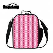 Dispalang Floral Insulated Lunch Cooler Bags for School Small Messenger Lunch Box Bags for Girls