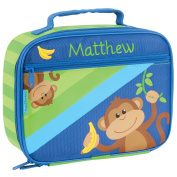 Personalised Stephen Joseph Boy Monkey Lunch Box with Embroidered Name