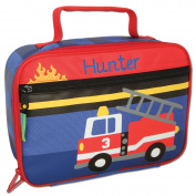Personalised Stephen Joseph Firetruck Lunch Box with Embroidered Name