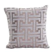 Fennco Styles Two Tone Geometric Design Decorative Throw Pillow - 46cm x 46cm