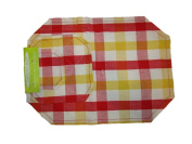 Red Yellow White Plaid Place Mat Set Set