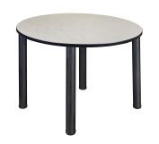 Kee 120cm Round Breakroom Table- Maple/ Black