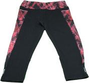 Marika Tek Ladies X-Small Performance Fitted Capris, Black/Pink