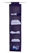 Plum 5 tier hanging canvas storage wardrobe robe camping fabric shelving shelves frame.shelf unit