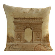 DKmagic Tower Printing Pillow Case Sofa Bed Home Decor Cushion Cover
