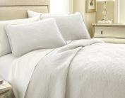 Southshore Fine Linens VILANO Springs - Classic Quilt Set, Bright White, Twin / Twin XL