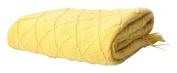 Battilo Knit Diamond Pattern Decorative Throw Blanket, 130cm by 150cm , Yellow