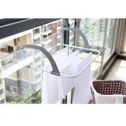 TOAO Indoor/Outdoor Easy Instal Folding Clothes Drying Rack-Hanging over the door or on Bathroom Windowsill Guardrail Corridor Balcony