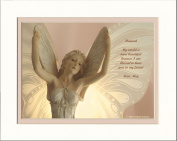 "Personalised Friendship Gift with ""My World Is More Beautiful Because I Am Blessed to Have You As My Friend."" Angel Photo, 8x10 Double Matted. Special Birthday, Christmas Gifts for Friend"