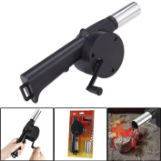 Rely2016 Cooking Barbecue Fan Air Hand Crank Blower for BBQ Fire Bellows Grill Picnic Outdoor Camping