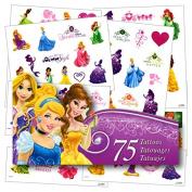 Disney Princess Tattoos - 75 Assorted Temporary Tattoos